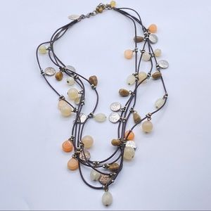 Talbot's Multi strand beaded necklace